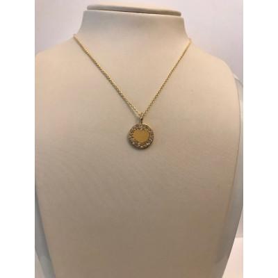 Collier Damiani Oro Giallo Cuore e Diamanti