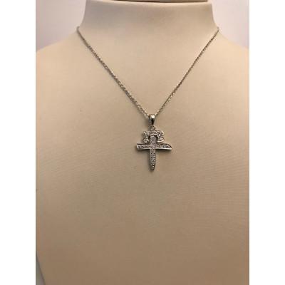Collier Mikimoto Oro Bianco Pace con Diamanti