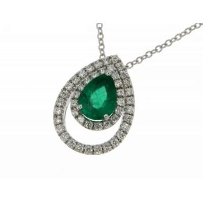 Girocollo Smeraldo e Diamanti Mirco Visconti