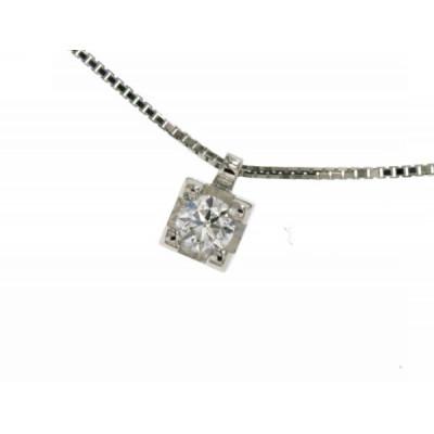 Girocollo con Diamante in Oro Bianco