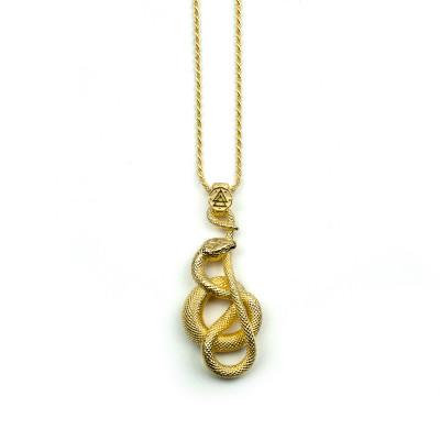 Collana Serpente Uroboro Oro Giallo