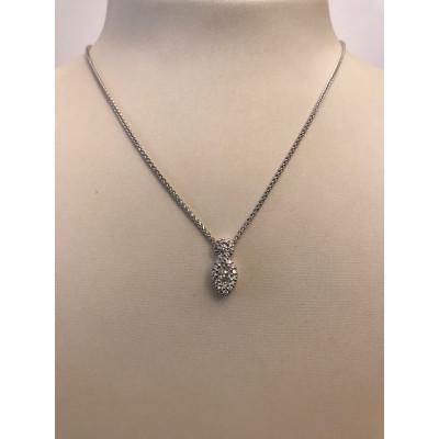 Collier Recarlo Oro Bianco Goccia con Diamanti