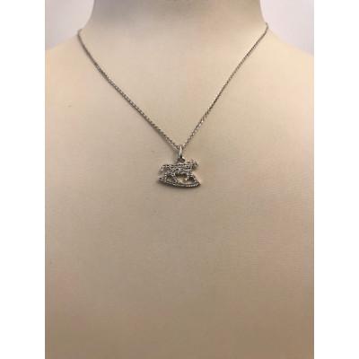 Collier Oro Bianco con Diamanti Cavallo a dondolo