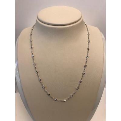 Collier Oro Bianco con Diamanti Tiffany