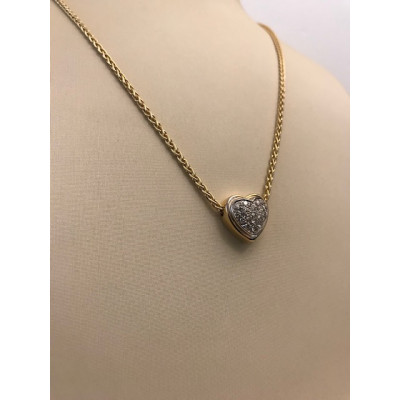 Collier Oro Giallo Cuore con Diamanti